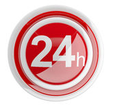 24 hours. 3D icon Stock Photography