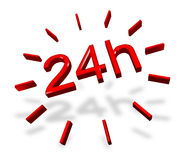 24 hours around the clock symbol Royalty Free Stock Photos
