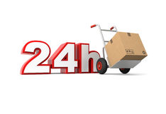 24 hours delivery. Service. Computer generated image royalty free illustration