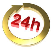 24 hours delivery sign Stock Image