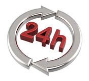 24 hours delivery sign. Computer generated 3D photo rendering Royalty Free Stock Image
