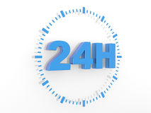 24 hours delivery sign. 3d render illustration Stock Photos