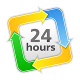 24 hours icon. On white background stock illustration