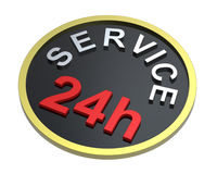 24 hours service sign. Computer generated 3D photo rendering Royalty Free Stock Images
