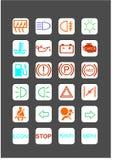 24 indicadores del color Fotos de archivo libres de regalías