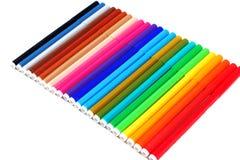 24 kleurenpennen Royalty-vrije Stock Fotografie
