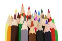 24 kleurenpotloden Royalty-vrije Stock Afbeelding