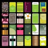 24 kleurrijke Verticale Adreskaartjes Stock Foto's