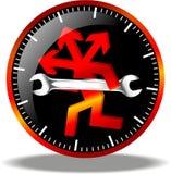 24 logos de maintenance d'heure Photo libre de droits