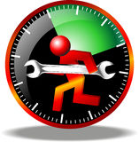 24 logos de maintenance d'heure Images stock
