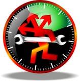 24 logos de maintenance d'heure Images libres de droits