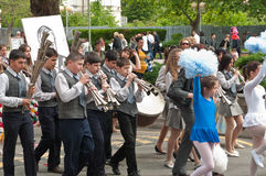 24 may - Brass Music. Celebration of Bulgarian Education and Culture, and Slavonic Literature Day (Saints Cyril and Methodius Day) in Bourgas Royalty Free Stock Photo