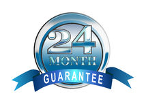 24 month guarantee icon Stock Photo