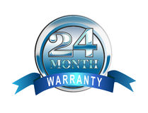 24 month warranty icon. Vector art of a 24 month warranty icon Royalty Free Stock Image