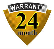 24 month warranty shield. Vector art of a 24 month warranty shield icon Stock Photos