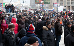 24 mot den moscow för december valmass protesten Arkivbilder