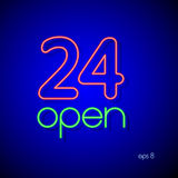 24  open. Vector illustration Royalty Free Stock Image