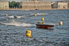 24 ore di corsa di barca a St Petersburg Immagine Stock Libera da Diritti