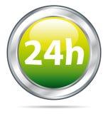 24 ore di icona di consegna Immagine Stock