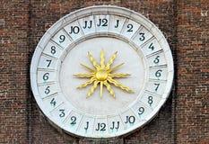 24 ore di orologio Fotografie Stock Libere da Diritti
