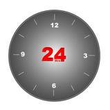 24 orologi illustrazione di stock