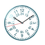 24 ours clock Royalty Free Stock Photography