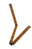 24 polegadas de madeira dobram acima a régua Foto de Stock Royalty Free