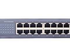 24 Port 10-100 Switch Stock Photos