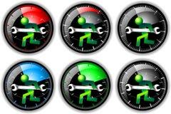 24 positionnements de logo de maintenance d'heure Photos libres de droits