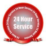 24 sceaux de service d'heure illustration de vecteur