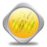 24 segni di servizio di ora Immagini Stock Libere da Diritti