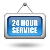 24 serviços da hora Foto de Stock