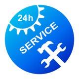 24 services d'heure illustration de vecteur