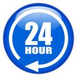 24 signes d'heure illustration stock