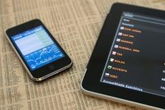24 sole för malm för iphone för äppleil-ipad Arkivbild