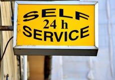 24 sservice för H-självtecken Fotografering för Bildbyråer