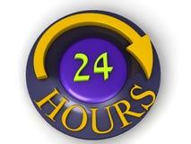 24 Stunden Stockbild
