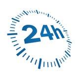 24 Stunden Anlieferung vektor abbildung