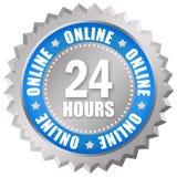 24 Stunden Online-Service stock abbildung
