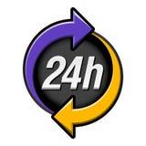 24 Stunden Zeichen Lizenzfreie Stockfotos