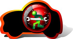 24 Stundenpflegeauto Stockbild