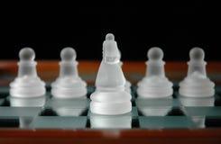 24 szachów kawałki Fotografia Royalty Free