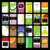 24 tarjetas de visita verticales coloridas Fotografía de archivo