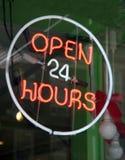 24 timmar öppnar Royaltyfri Bild