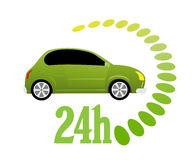 24 timmar symbol Arkivfoton