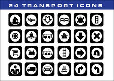 24 transport icons. A set of transport icons Stock Photography