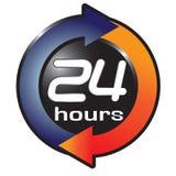 24 uren Royalty-vrije Stock Afbeelding