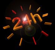 24 urensymbool continu Royalty-vrije Stock Fotografie