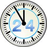 24 uur op 24 uur Stock Foto