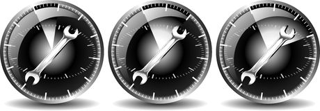 24 véhicules de maintenance d'heure Image stock